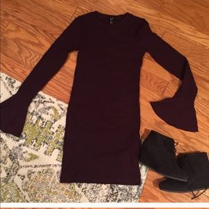 H&M burgundy Bodycon Dress